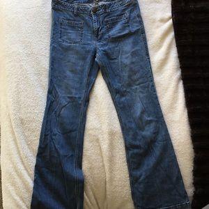 CAbi Patch Pocket Flare Jeans